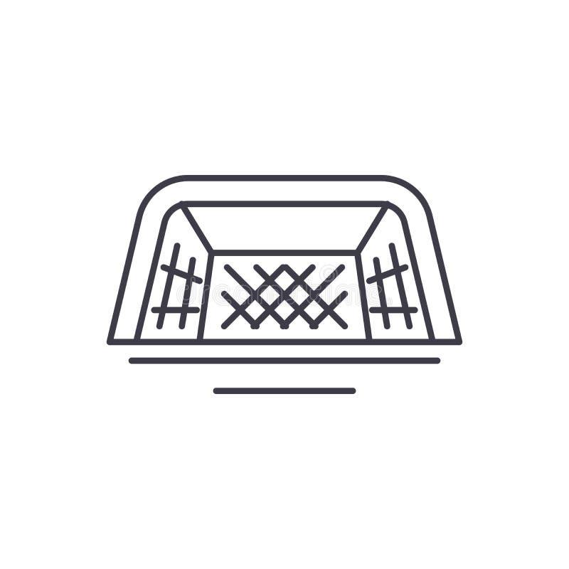 Nożnych bram ikony kreskowy pojęcie Stopa zakazuje wektorową liniową ilustrację, symbol, znak ilustracji