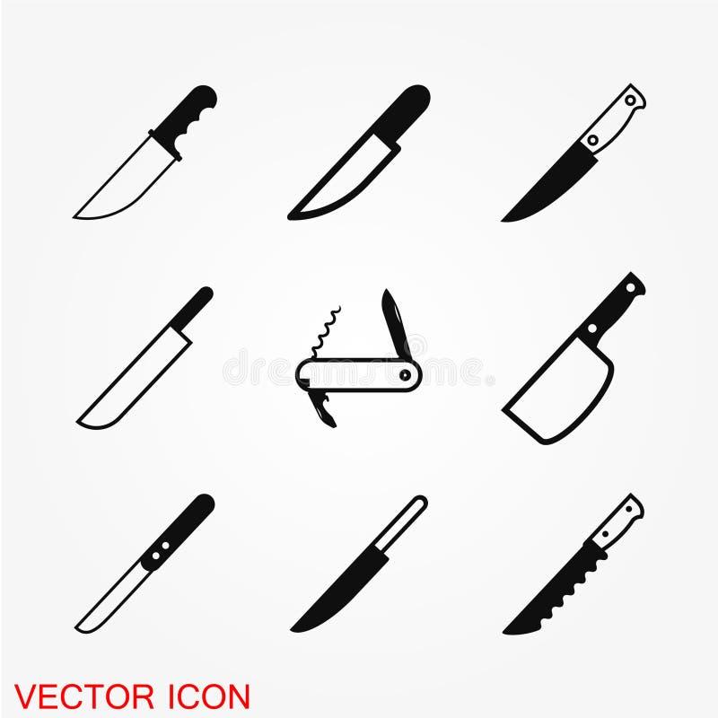 Nożowa ikona w mieszkanie stylu ilustracji