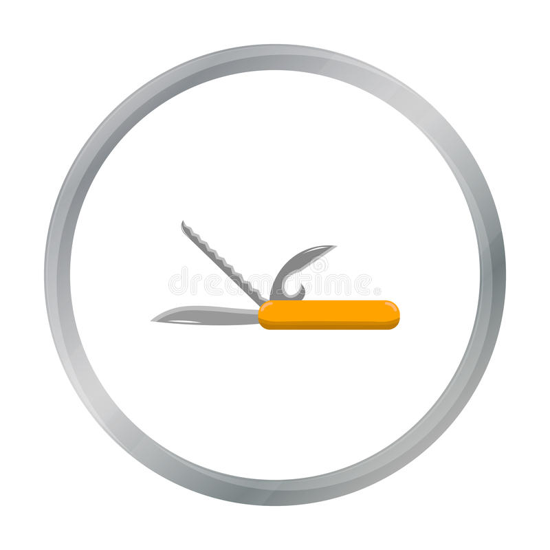 Nożowa ikona wektorowa ilustracja dla sieci i wiszącej ozdoby ilustracja wektor