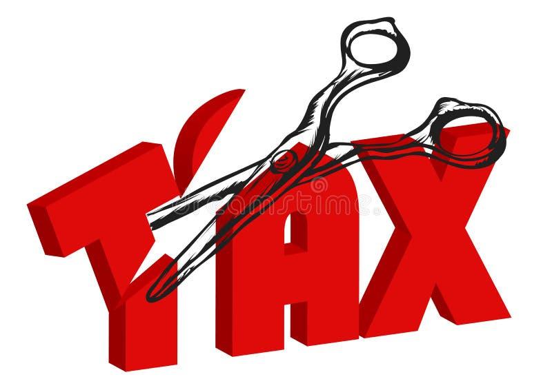 Nożyce ciący podatki ilustracji