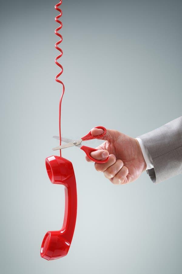 Nożyce ciie telefonicznego związek obrazy royalty free