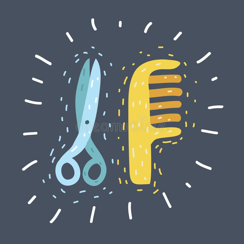 Nożyce, grępla znak ilustracji