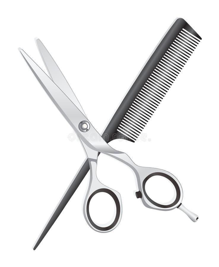 Nożyce i grępla ilustracji