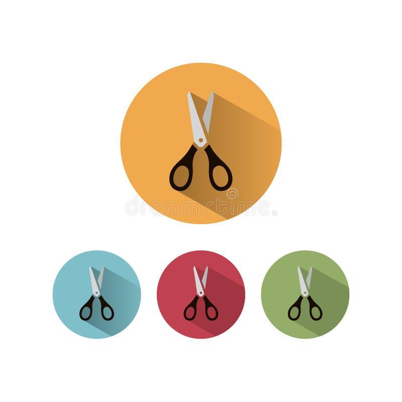 Nożyce ikona ilustracji