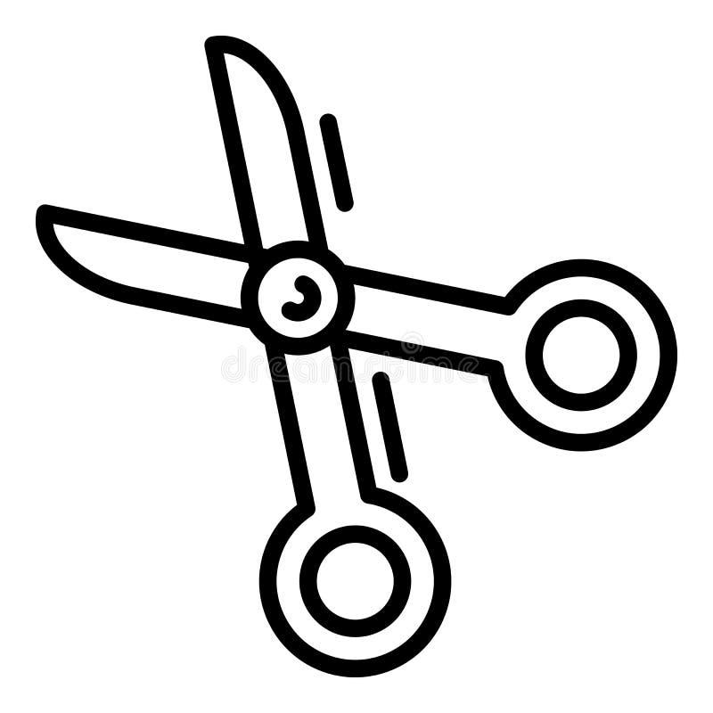 Nożyce ikona, konturu styl ilustracja wektor