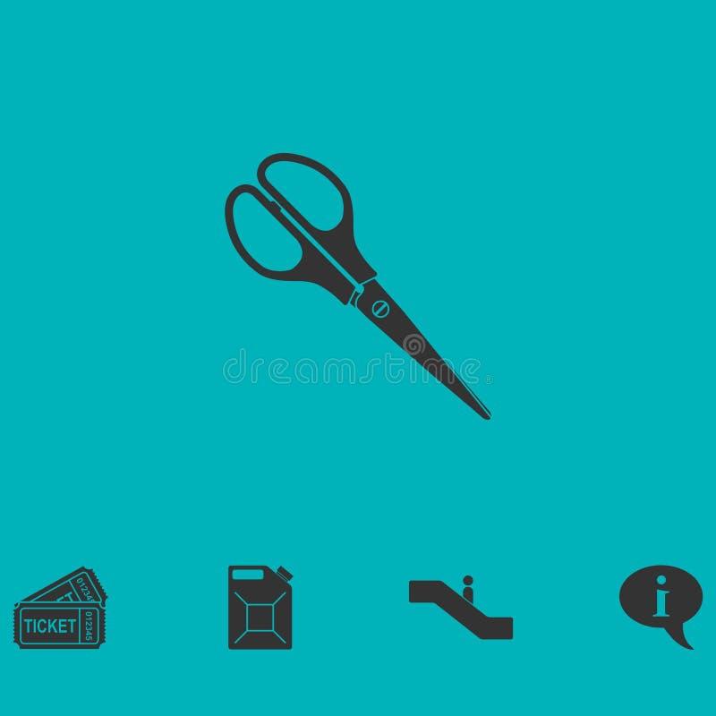 Nożyce ikony mieszkanie ilustracji