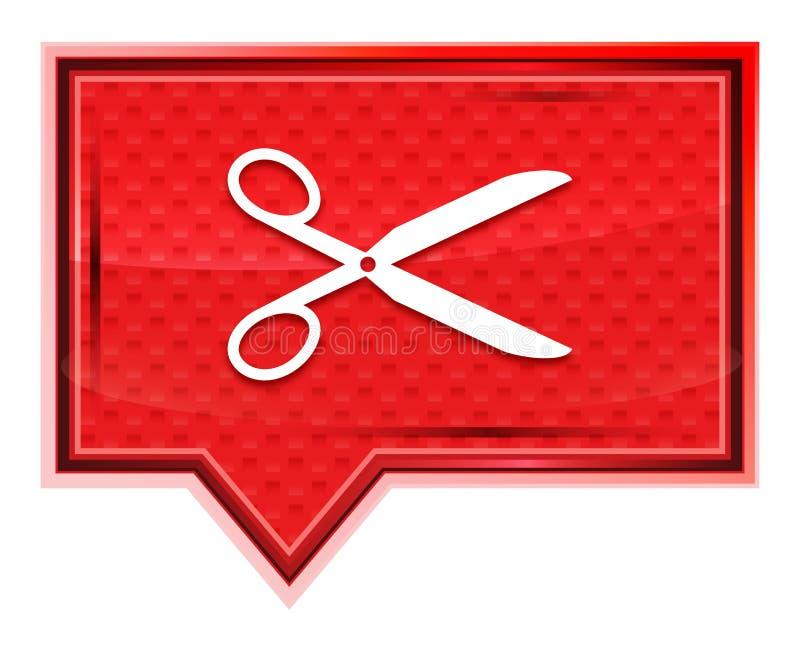 Nożyce ikony róży menchii sztandaru mglisty guzik ilustracja wektor