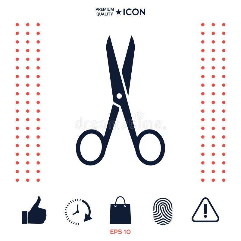 Nożyce ikony symbol royalty ilustracja