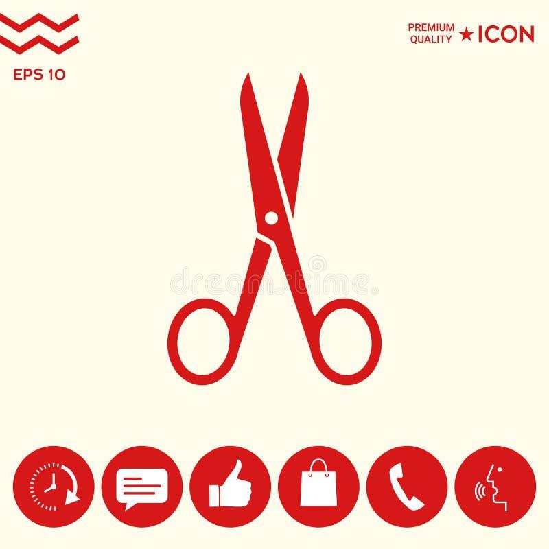 Nożyce ikony symbol ilustracji