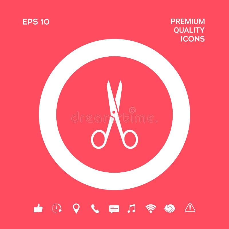 Nożyce ikony symbol Graficzni elementy dla twój projekta royalty ilustracja