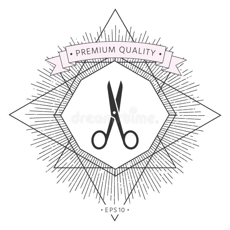 Nożyce ikony symbolu symbol royalty ilustracja