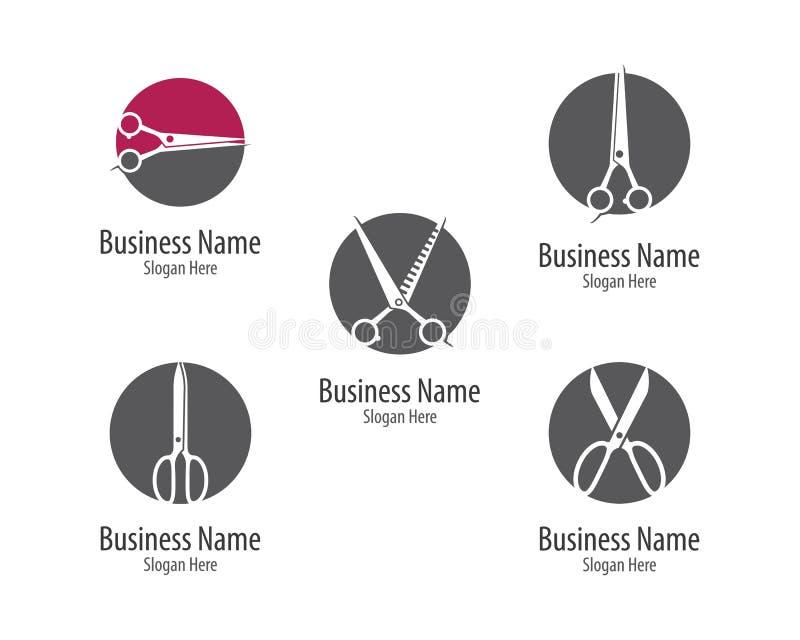 Nożyce logo ikona royalty ilustracja
