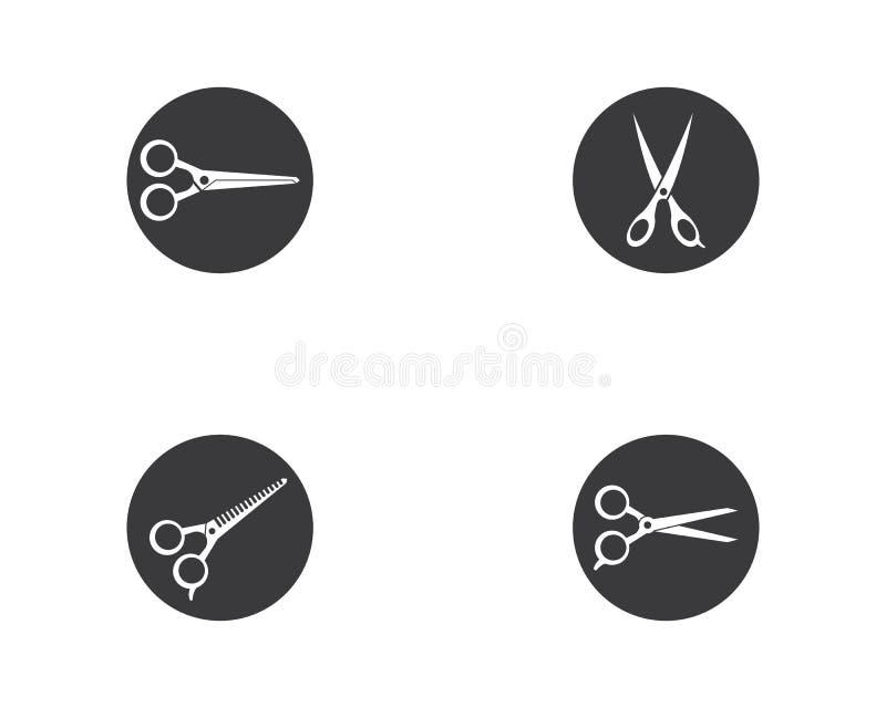 Nożyce logo szablonu wektoru ikona ilustracji