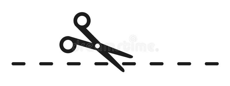 Nożyce, talonowy rabatowy znak - wektor ilustracji