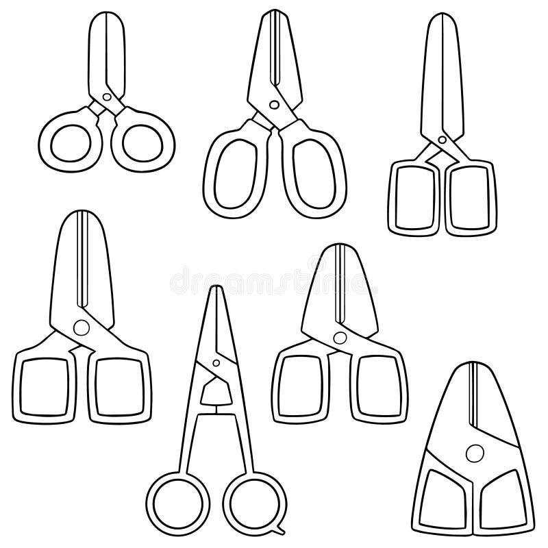 nożyce ustawiający wektor ilustracji