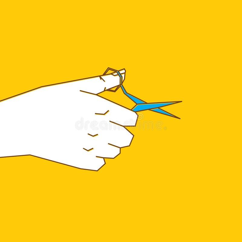 Nożyce w ręce ilustracja wektor