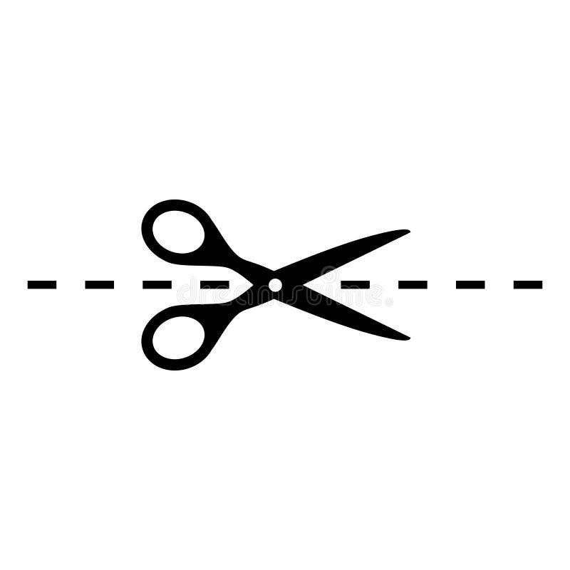Nożyce wektorowa ikona, talonowy rabatowy znak Nożyce symbolu ilustracja ilustracji