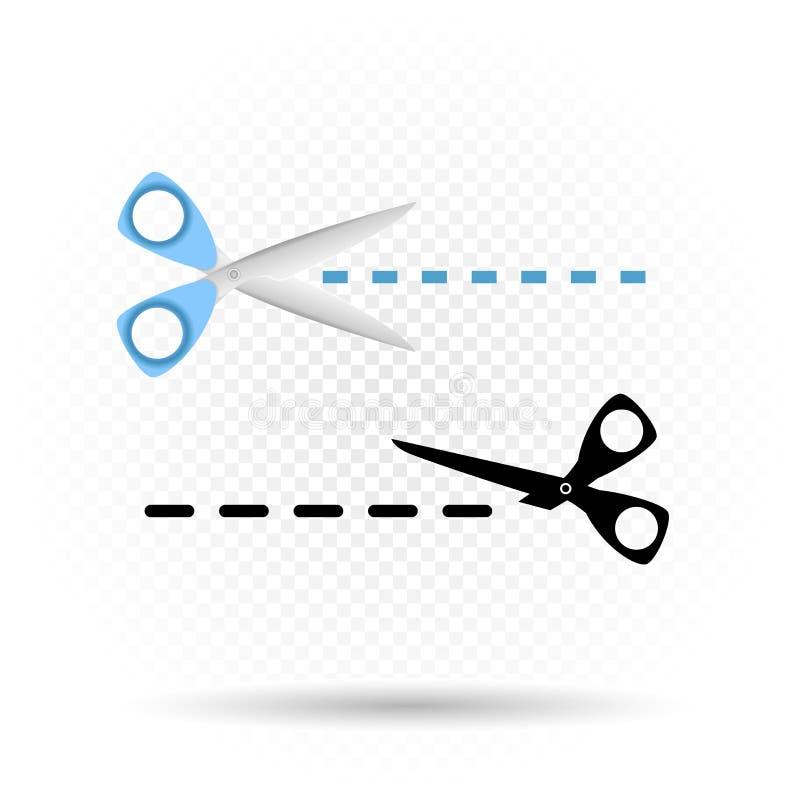 Nożyce wykładają rżniętego symbol ilustracji