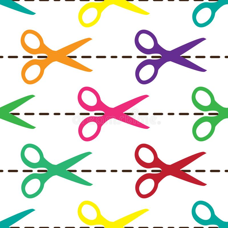 Nożyce wzór ilustracji