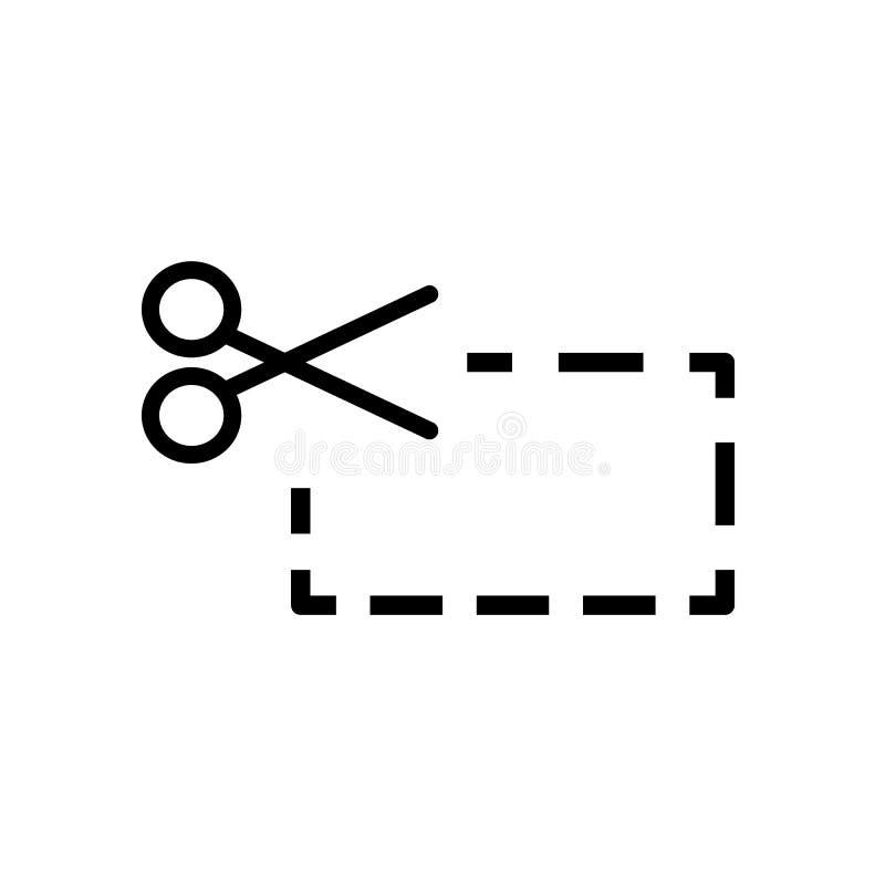 Nożycowy rozcięcie, prosty ikona projekt ilustracja wektor