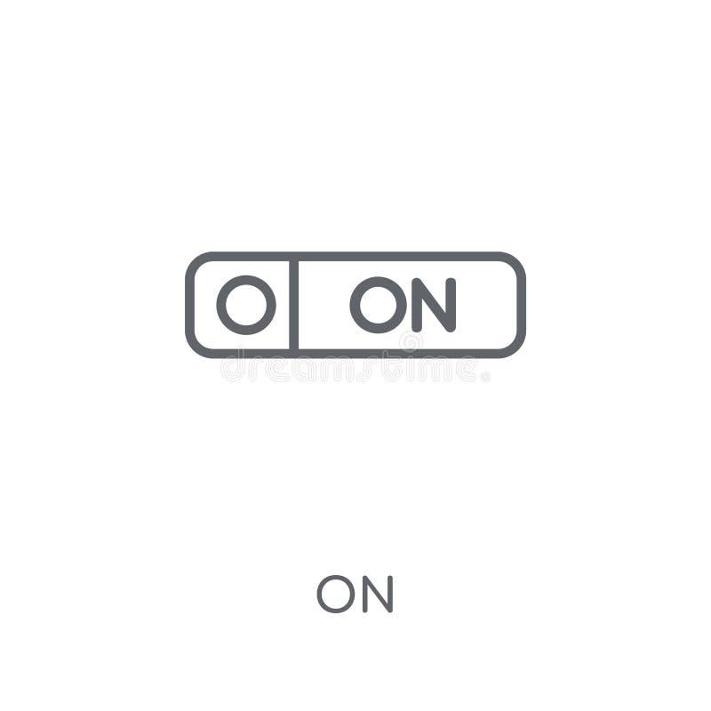 No ícone linear Esboço moderno no conceito do logotipo no backgrou branco ilustração royalty free