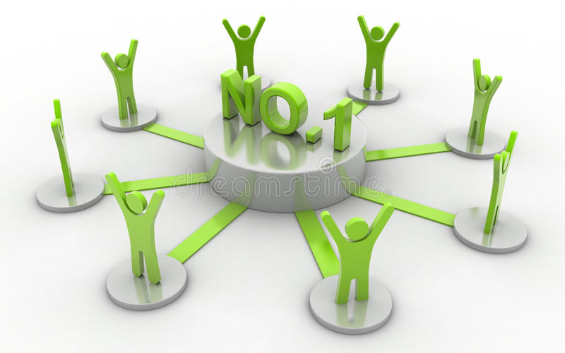 NO: 1 rete di affari illustrazione vettoriale