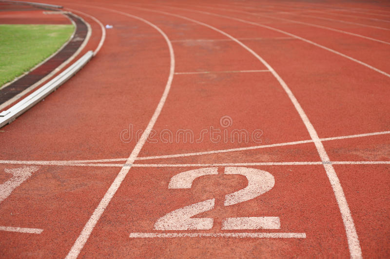 No.2 in running track royalty free stock photo