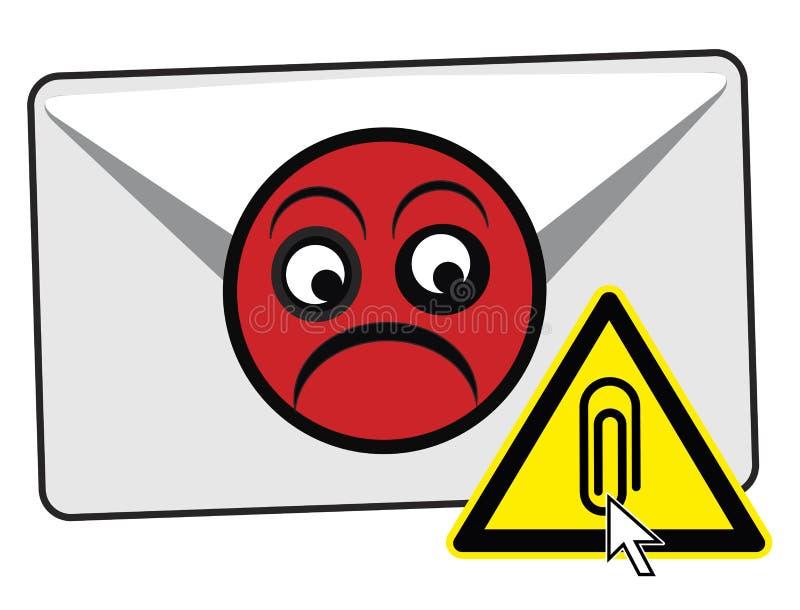 No abra los accesorios del correo electrónico libre illustration