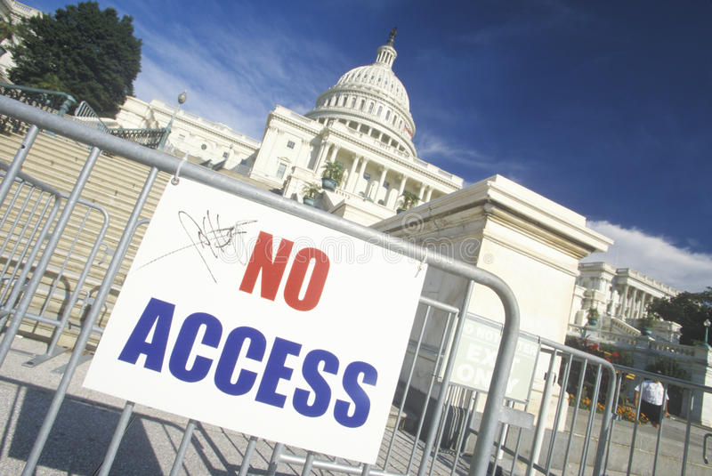 Download No Access Sign stock image. Image of security, barrier - 26892449