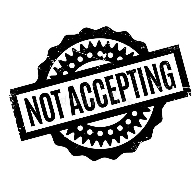 No aceptar el sello de goma stock de ilustración
