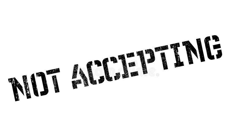 No aceptar el sello de goma libre illustration