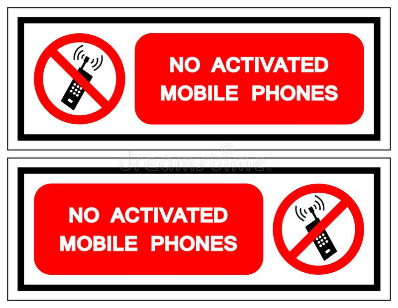 No Activated Mobile Phones Symbol Sign, Vector Illustration, Isolate On White Background Label. EPS10 vector illustration