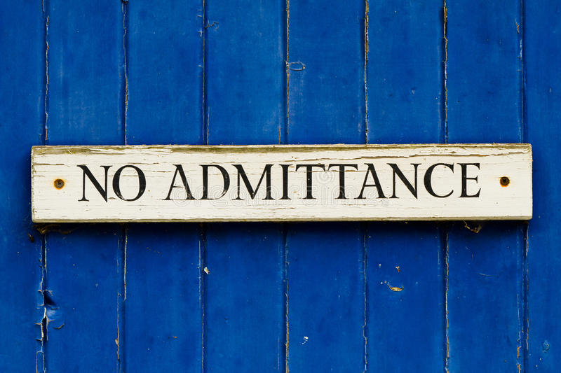 Download No Admittance stock image. Image of blue, door, background - 24544871