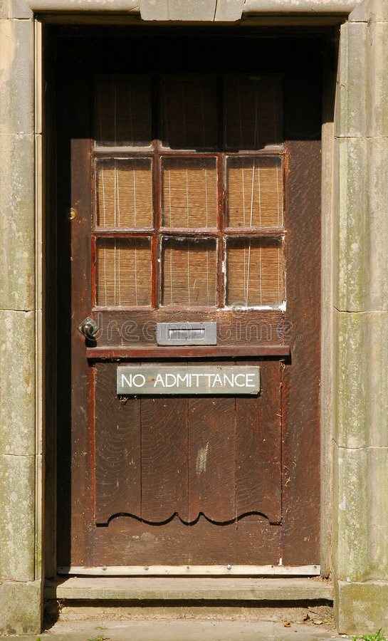 Download No admittance stock photo. Image of door, wood, entrance - 6410948