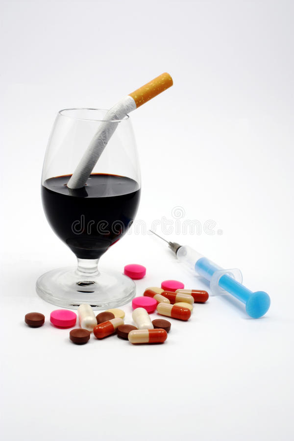 No, alcohol, cigarrillos, drogas imagen de archivo libre de regalías
