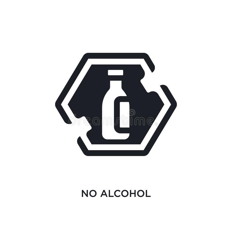 no alcohol isolated icon. simple element illustration from signs concept icons. no alcohol editable logo sign symbol design on vector illustration