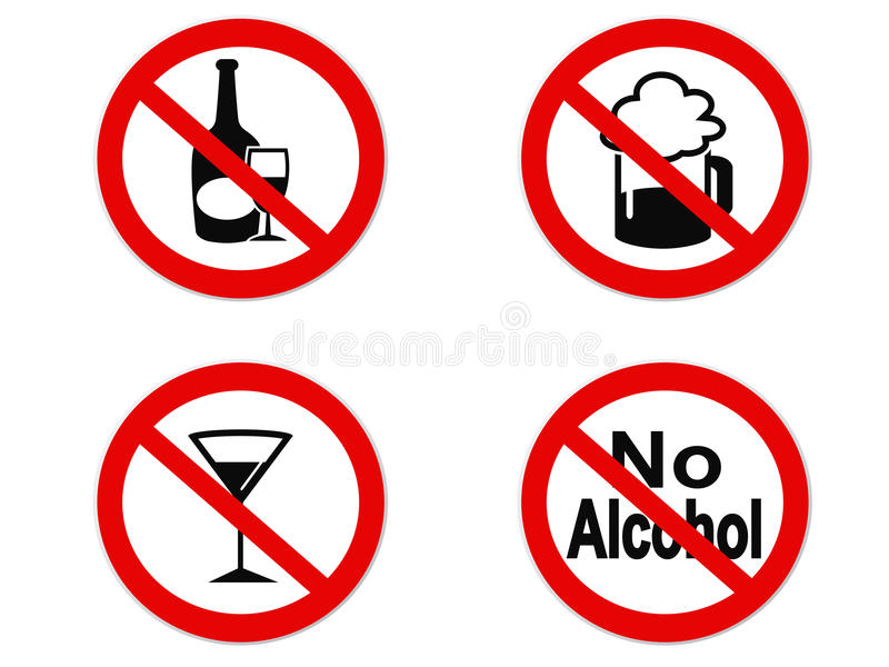 No Alcohol sign icon royalty free illustration