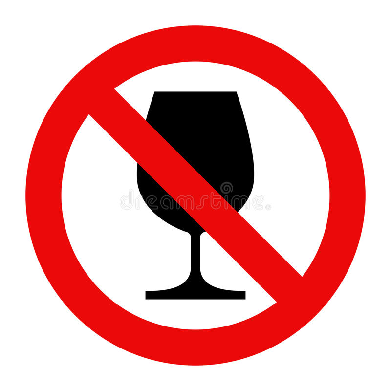 No alcohol sign stock illustration