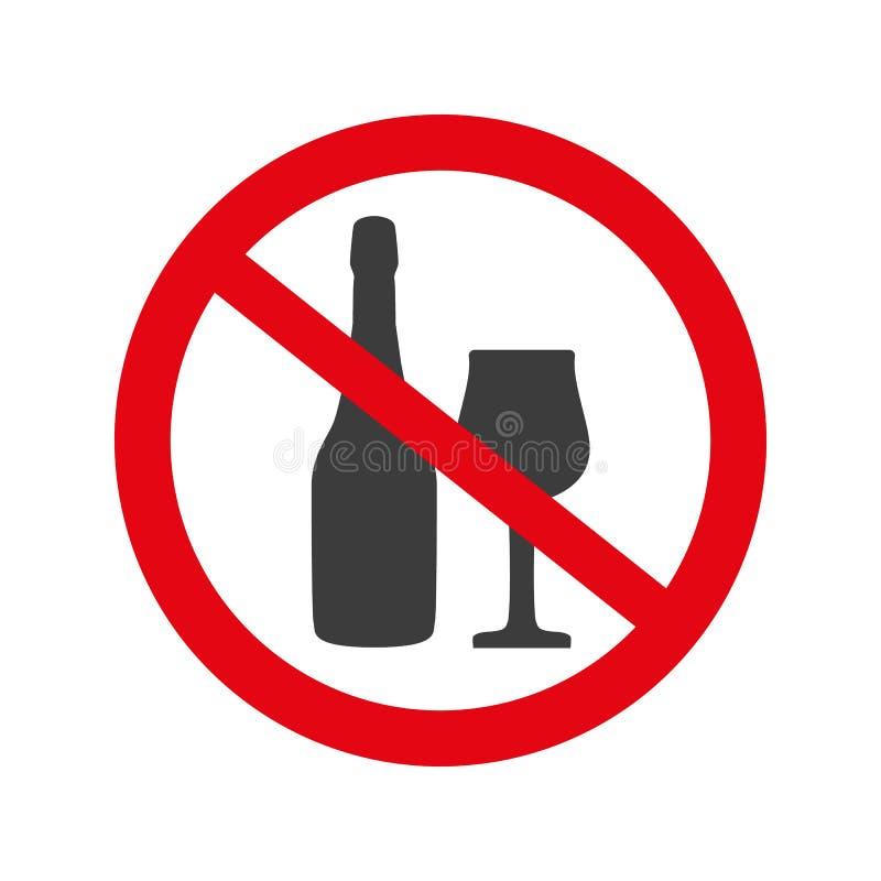 No alcohol sign on white background. royalty free illustration
