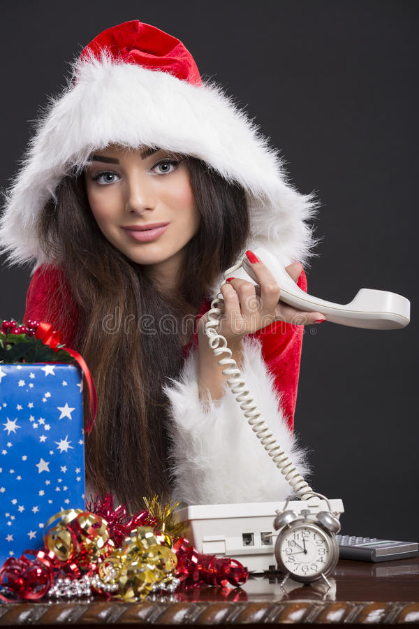 No answer on Christmas Eve royalty free stock photo