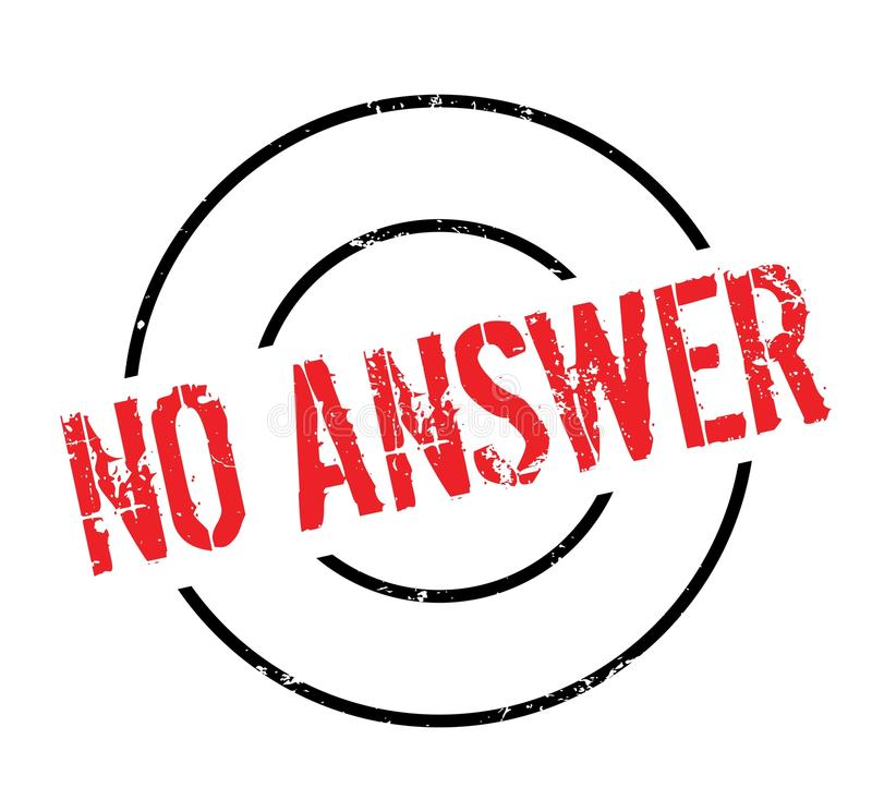 No Answer rubber stamp stock vector. Illustration of ...