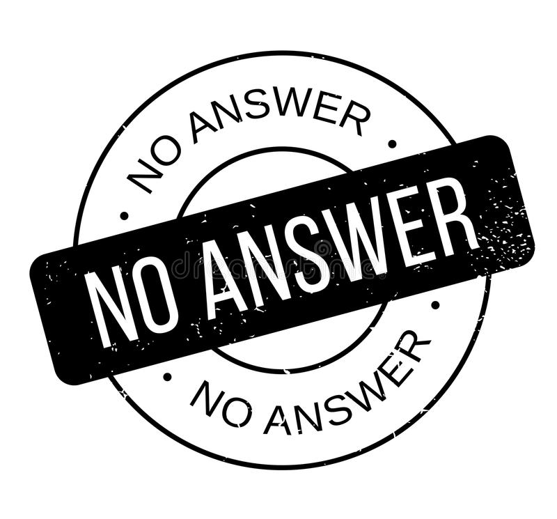 No Answer rubber stamp stock vector. Illustration of guff