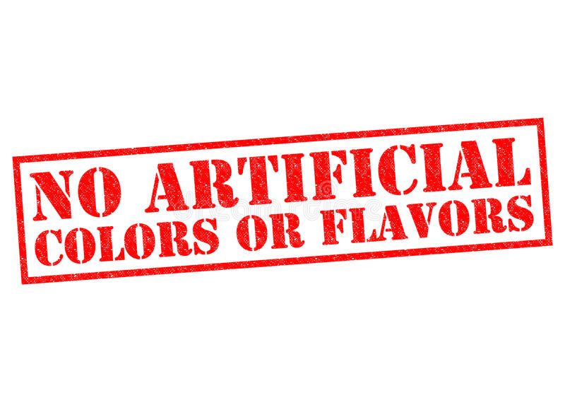 NO ARTIFICIAL COLORS OR FLAVORS vector illustration