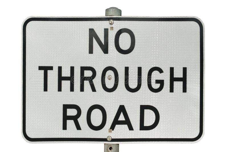 No. - através do sinal de estrada imagens de stock