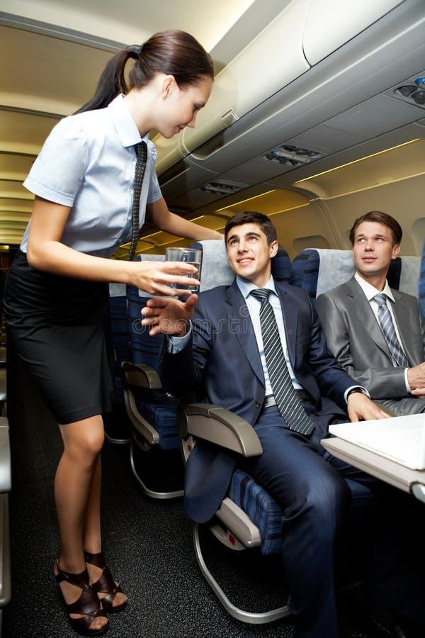No avião imagem de stock royalty free