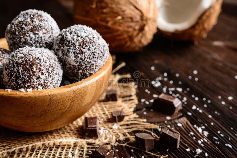 No bake coconut balls royalty free stock images
