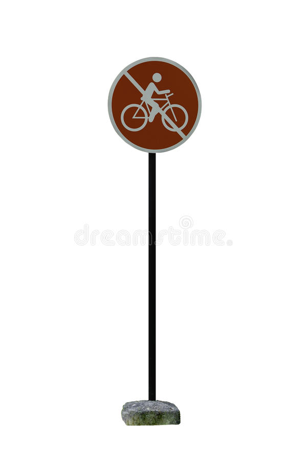 No bicycle red sign in Thailand park royalty free stock photography