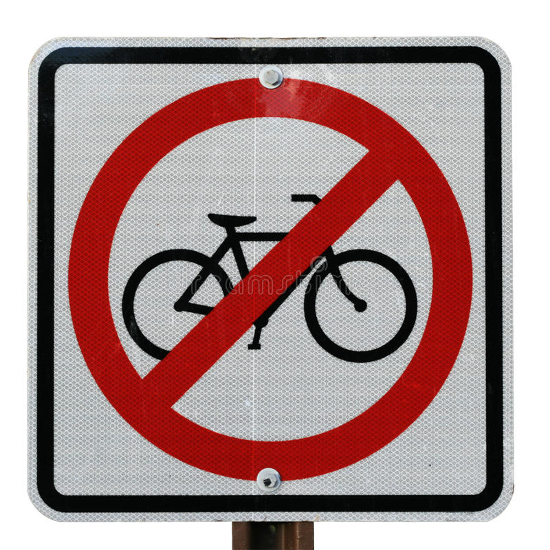 Download No bicycle sign stock image. Image of reflective, road - 14617099