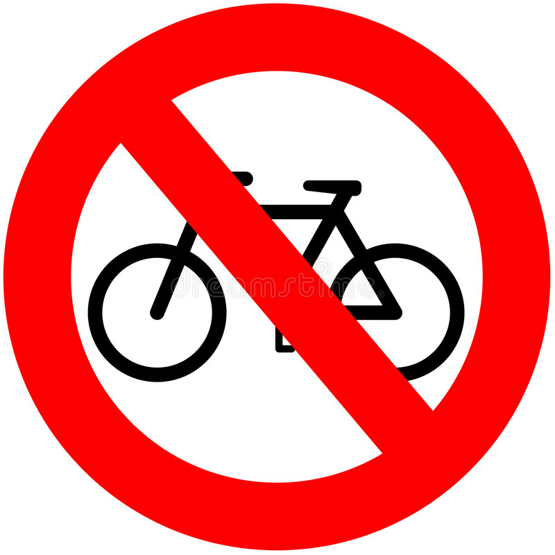 No Bicycles royalty free illustration