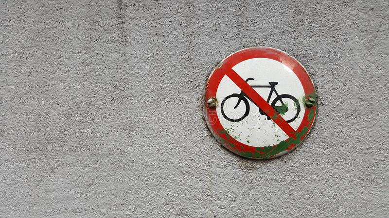 No Bikes Allowed stock image
